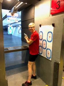 Kay Faesel at the Shooting Range