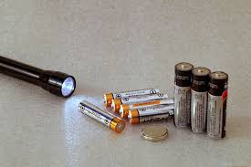 batteries and flashlight